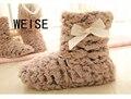 Weise frete grátis 2017 nova moda inverno apartamentos mulheres chinelos 6 cores engrossar quente chinelos em casa de inverno da marca para as mulheres