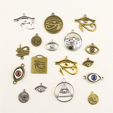 Charm Women Backless Dress Eye Of The Horus Supplies For Jewelry Materials Hand Made Charms