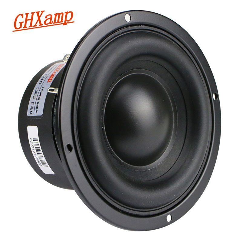 GHXAMP 4 Inch Woofer Subwoofer Speaker Unit 4ohm 40W Polymer Cap Long Stroke Rubber For Computer Multimedia Speaker Upgrade 1PC Subwoofer     - title=