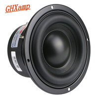 GHXAMP 4 Inch Woofer Subwoofer Speaker Unit 4ohm 40W Polymer Cap Long Stroke Rubber For Computer Multimedia Speaker Upgrade 1PC