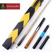 Weichster – queue de billard 3/4 en bois fait à la main, deux modèles avec étui jaune et noir