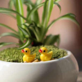 NEW Hot Sale 10Pcs Miniature Dollhouse Fairy Garden Mini Cute Little Yellow Duck Resin Crafts For Home Plants Decoration