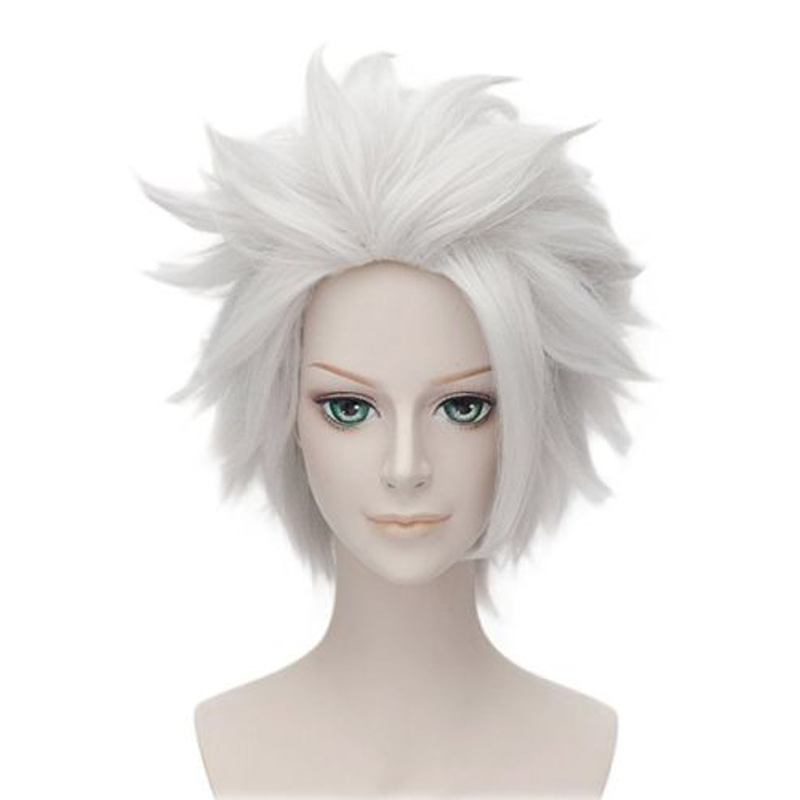 Cosplay Wigs Short Silver-Costume Rick Sanchez Morty Layered Party Wig-Cap Ursula