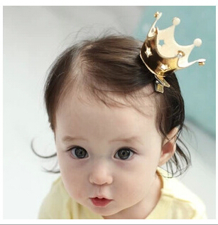 Solid Cute crown BB clip hair clip hair band bobby pin headwear girl hairpin children hair accessory FD142