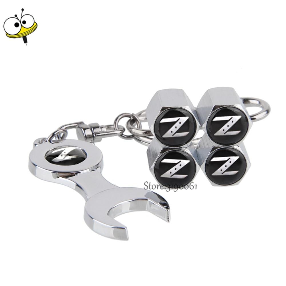 Car Accessories Auto Car Wheel Tire Valve Stems Caps For Z Logo For Nissan X-Trail Juke 350z 370z Frontier Altima Qashqai Note
