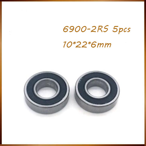 Set of 10 RADIAL BALL BEARING 6906-2RS WITH 2 RUBBER SEALS