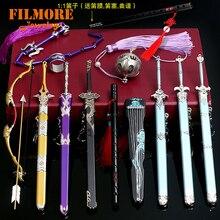 Основатель диаболизма Mo Dao Zu Shi брелок 22 см флейта кнут оружие Модель брелки коллекция меч с оболочкой ювелирные изделия