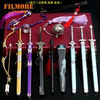 Die Gründer von Diabolism Mo Dao Zu Shi Keychain 22 CM Flöte Peitsche Waffe Modell Schlüssel Ketten Sammlung Schwert mit mantel Schmuck