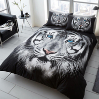 White Tiger Deer Cows printed bed linens set 100% polyester bedding set Queen King single sizes duvet / quilt cover set new 3pcs