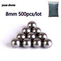 400pcs The Projectile 8mm Steel Balls Bow Food Professional Slingshot Ammo Outdoor Slingshot Bullets Used For