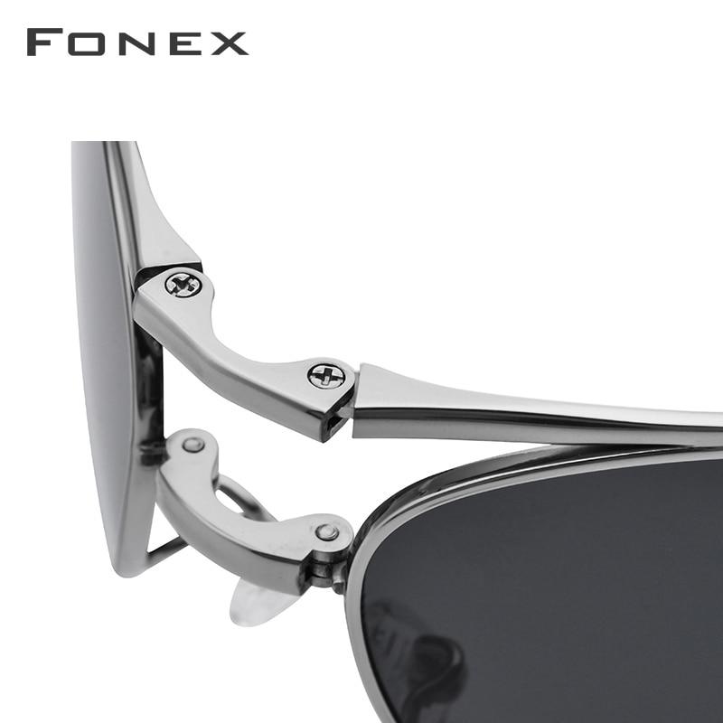 Image 4 - Pure Titanium Polarized Sunglasses Men Folding Classic Aviation Sun Glasses for Men 2018 New Aviador HIgh Quality Male Shades-in Men's Sunglasses from Apparel Accessories on AliExpress