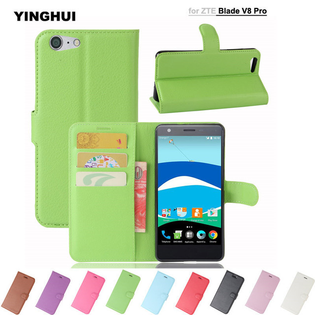 separation shoes 665f5 51d0d US $4.99 |For ZTE Blade V8 Pro Case Wallet Style PU Leather Book Flip Stand  Back Cover For ZTE Blade V8 Pro V8Pro Z978 5.5
