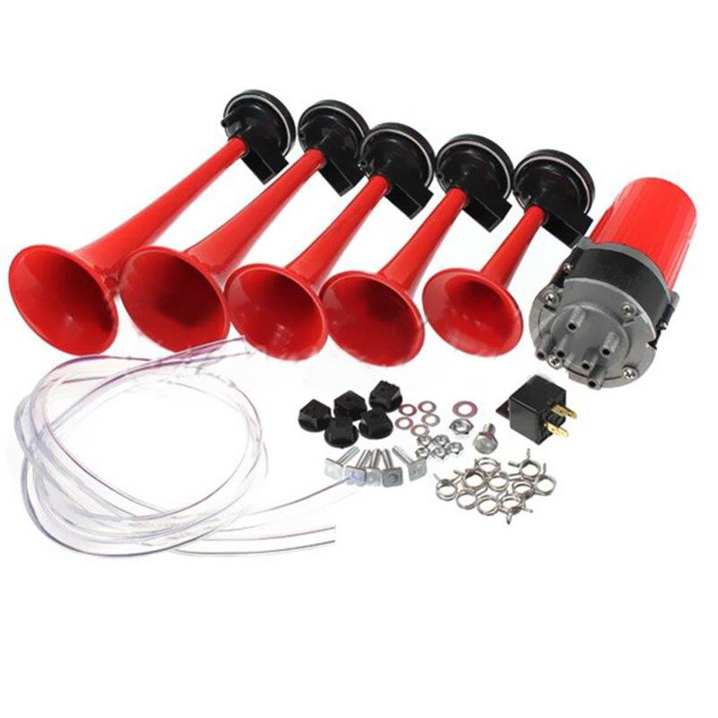 125dB 12 v 5 DIXIE Trompete Musical Auto Air Horn Dukes von Hazzard Allgemeine Kompressor für Auto Lkw Boot Bus