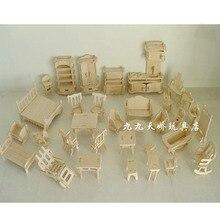 DIY кукольный домик наборы Обучающие ролевые игры мебель игрушки Мини 3D стерео головоломка дом кукла Бытовая специальные подарки для детей
