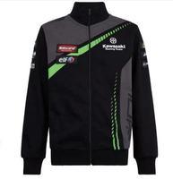 2019 Moto Hoodies For Kawasaki Racing Team Motorcycle Outdoor Sports Sweatshirts Riding gp Jacket Off Road T shirt Black Green