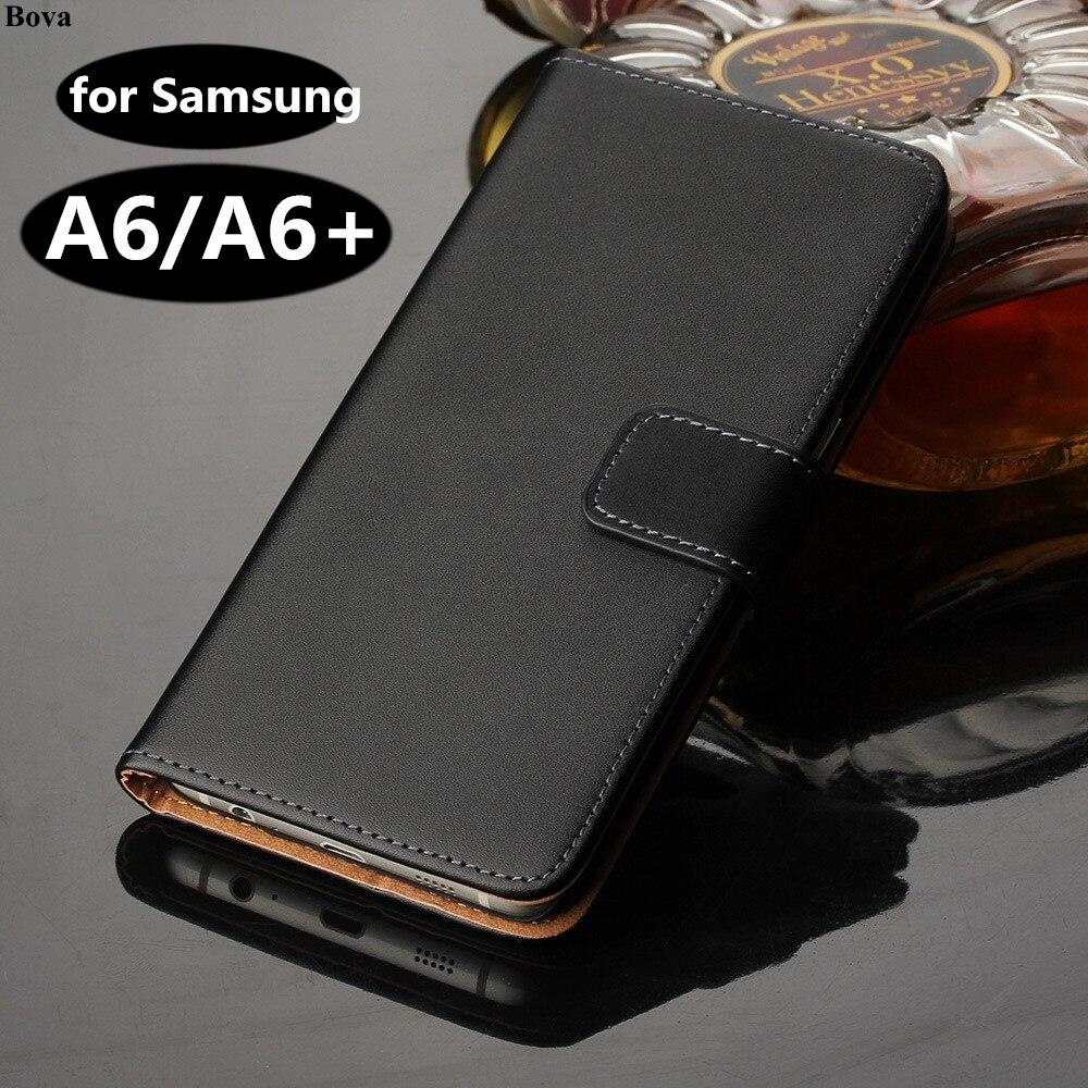 Luxus Brieftasche Fall Für Samsung Galaxy A6 A6 + Plus 2018 Karte Halter Holster Leder Flip Abdeckung Fall Für Samsung A6 (2018) Gg