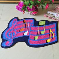 50cm 80cm Music Area Rug Handmade Rug Washable Non Slip Floor Mat Art Rug For Kids