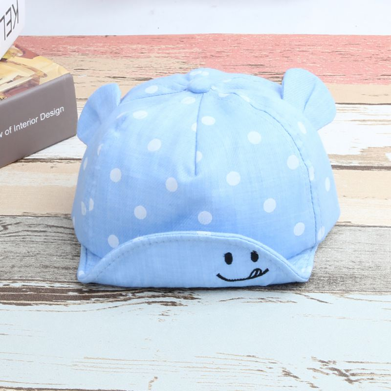 Baby New Girl Boys Cute Dot Cap Summer Infant Sun Hat With Ear Sunscreen Baby Girl Hat Spring Baby Accessories мозаики minions minions мозаика сингл minion на пляже