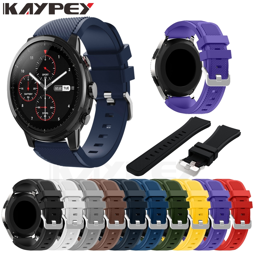 Soft Silicone Sports Watch Band Strap For Huami Amazfit Stratos Smart Watch For Amazfit Pace Stratos 2/2S Straps 22mm Bracelet