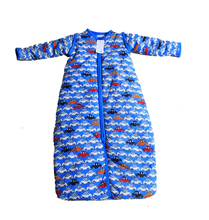 2016 new arrival HEMA baby sleeping bag Cotton padded zipper cardigan with sleeves removable anti kicking quilt sleeping bag