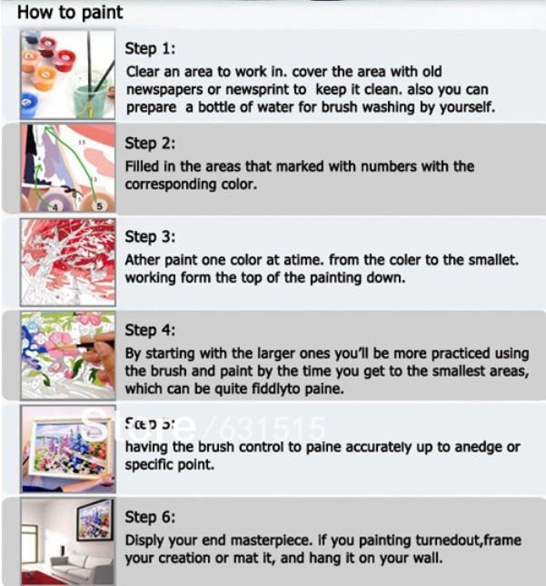 Frameless Mengenakan Topi Rusa Hewan Lukisan Dengan Nomor Kit