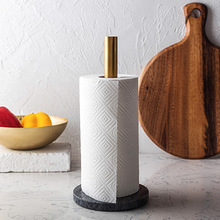 Скандинавский Мраморный держатель для кухонной бумаги, позолоченный держатель для кухонных салфеток, столешница, креативный держатель для рулона, органайзер для туалетной бумаги