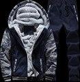 Camisola dos homens Mais Nova Moda Dos Homens No Inverno Para Manter Aquecido Quente Moletom Com Capuz Jaqueta Dos Homens Ternos Dos Homens