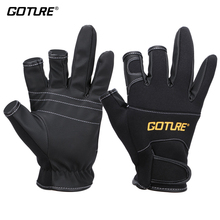 Goture Fishing Gloves Anti-slip 3 Half Finger Breathable Glove Terylene Sponge PU For Fishing Accessories Outdoor Sports Tools
