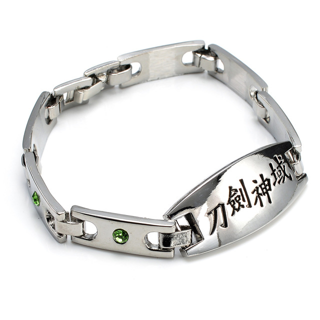 Amazing stainless steel Naruto logo Bracelet