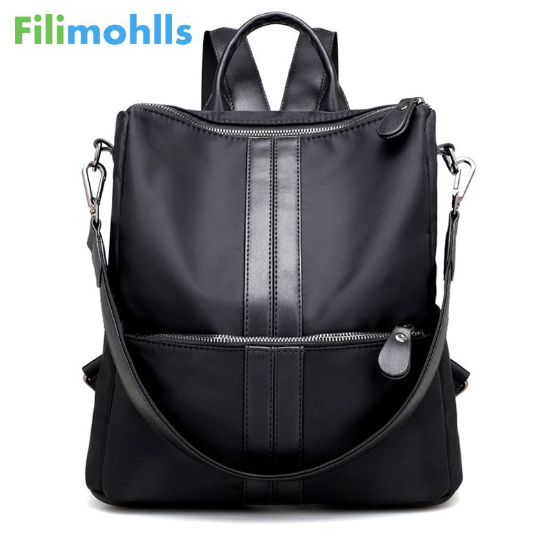 School Bags 2018 New Fashion Women Backpack Canvas Nylon Oxford Spinning Multifunction Big Famous Designer Shoulder Bag S1341 fn01 multifunction canvas shoulder bag handbag backpack for women khaki