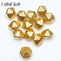12x10mm Wholesale Price pattern 15pcs Antique Metal Gold Spacer Beads for Jewelry Making