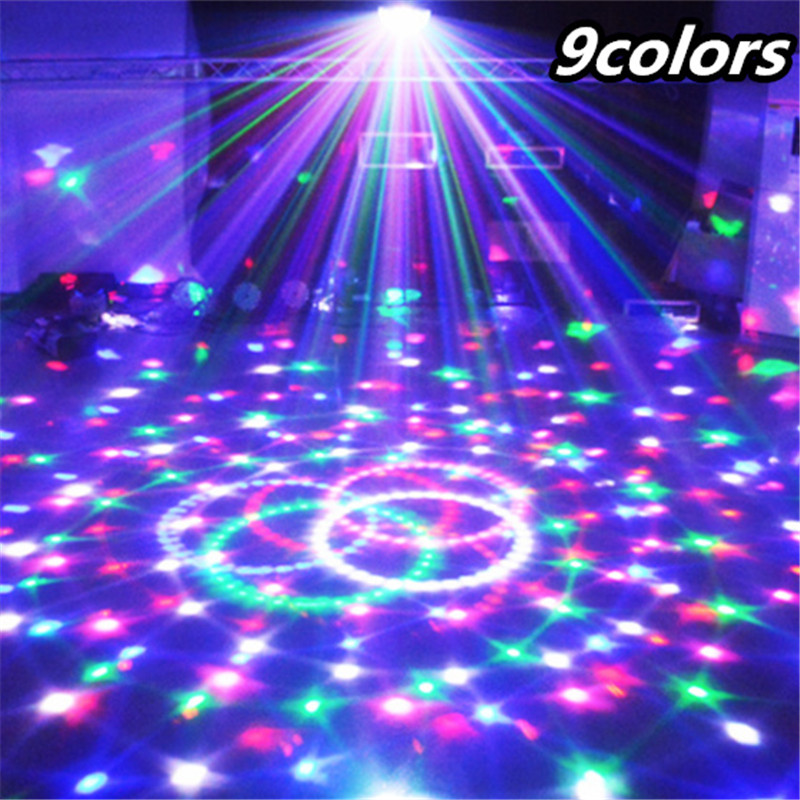 9 Colors 27W Crystal Magic Ball Led Stage Lamp 14 Modes Disco Laser Light Party Lights Sound Control Christmas Laser Projector transctego 9 colors 27w crystal magic ball led stage lamp 21 mode disco laser light party lights sound control dmx lumiere laser