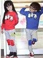 2016 мальчики осень комплект одежды детей спортивные костюмы дети наряды детская одежда мода камень ножницы ткань печатные игры