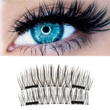 4Pcs 3D Double Magnetic Eyelashes Natural Beauty Handmade False Eyelashes Extension Eye Lashes New Fashion Make Up Tools