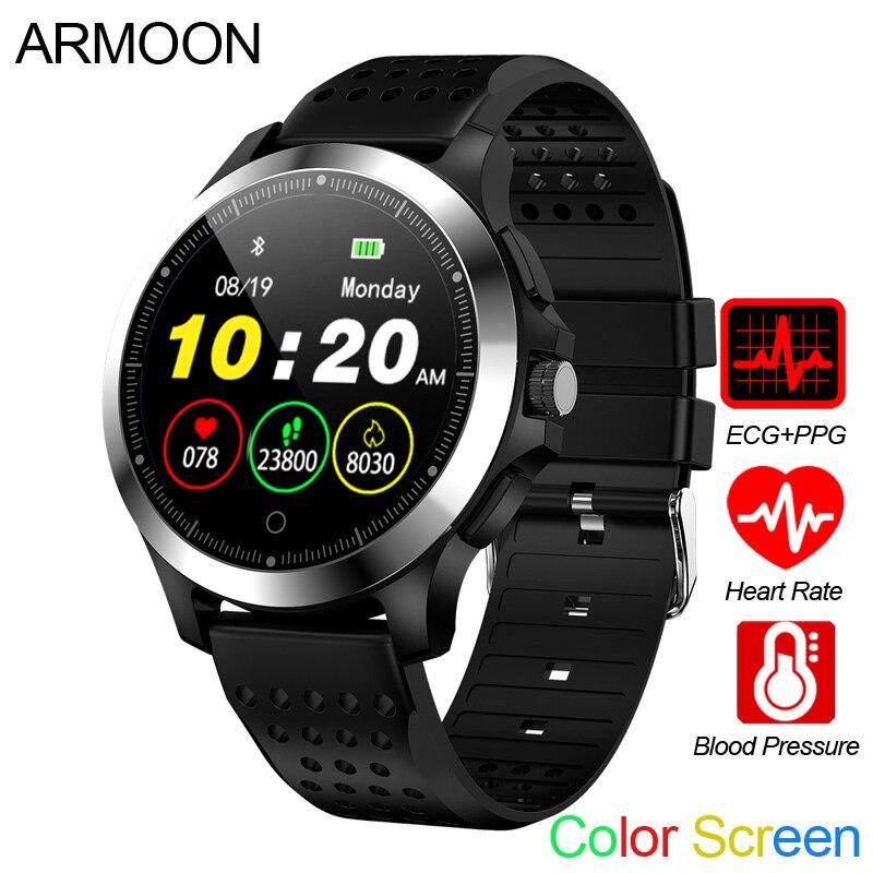 Relógio inteligente W8 PPG ECG Monitor de Freqüência Cardíaca Pulseira Sono Rastreador De Fitness Cor À Prova D' Água de Pressão Arterial Tela Multi Banda Esporte