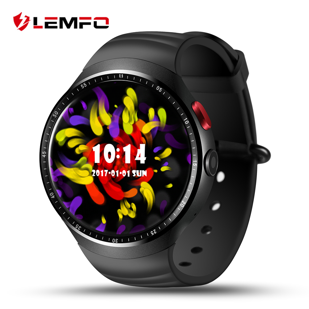 LEMFO LES1 Watch Smart Watch Android 5.1 Smartwatch Men Sport Support SIM Card GPS 3G WIFI Bluetooth Heart Rate Pedometer