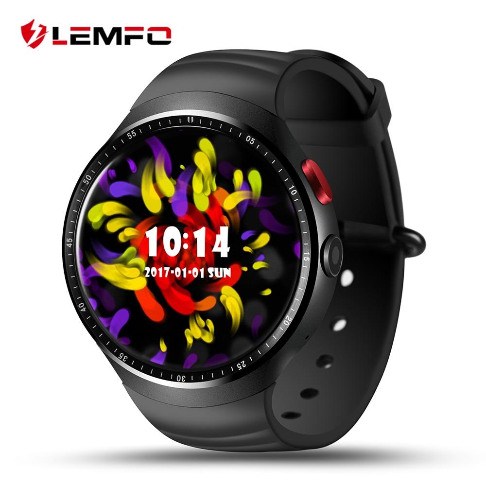 LEMFO LES1 reloj inteligente Android 5,1 Smartwatch hombres deporte soporte de tarjeta SIM GPS 3G WIFI Bluetooth Frecuencia Cardíaca podómetro