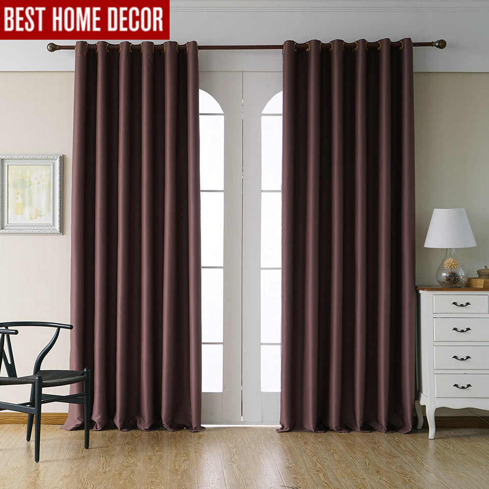 Modern blackout curtains for living room bedroom curtains for window drapes coffee finished blackout curtains 1 panel blinds