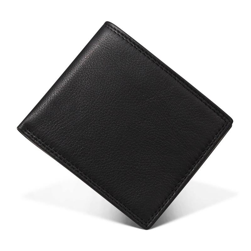 Business Casual Mens Wallet Genuine Leather Hasp Short Bifold Male Wallets fashion Small Money Coin Purses Credit Card Holder