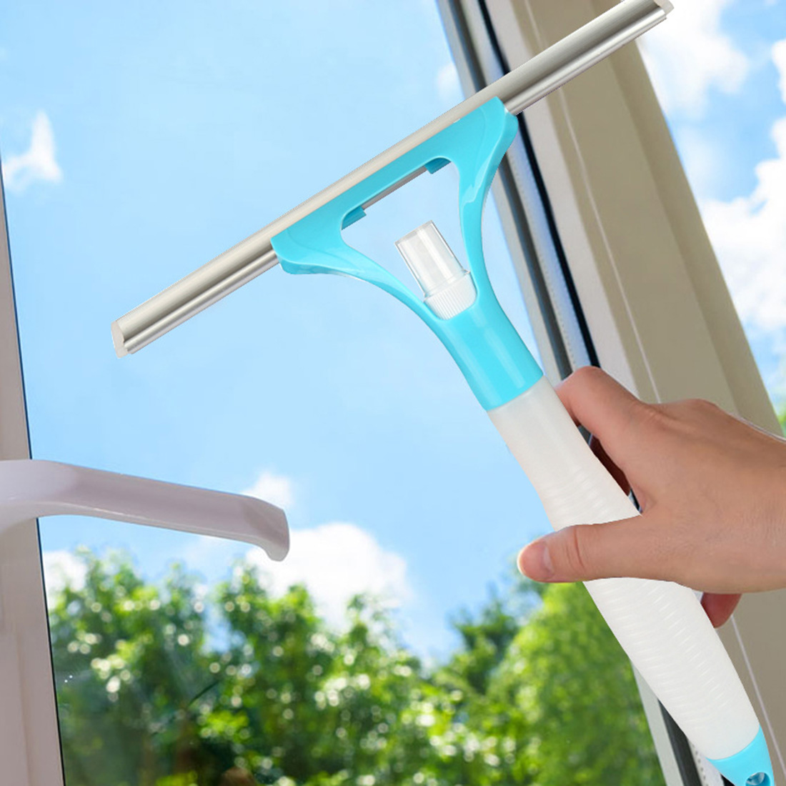 How to clean house windows - House Useful Washing Brush Magic Spray Type Cleaning Brush Glass Wiper Window Clean Shave Glass Sponge