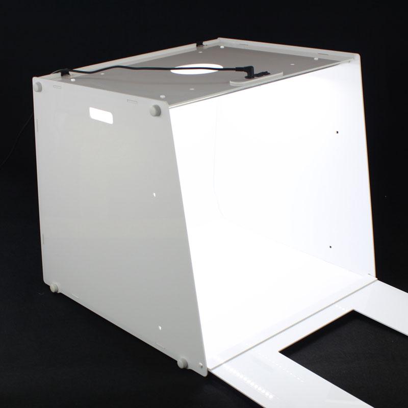"""Prix pour NOUVEAU Vertical Fenêtre Portable Professionnel Mini Photo Studio Photographie Boîte à Lumière 16 """"x 16"""" D45 220 V/110 V"""