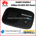 Wholesale Free Shipping Original DC-HSPA+ 42Mbps Unlock HUAWEI E5356 Pocket 3G WiFi Router Support 900 2100MHz