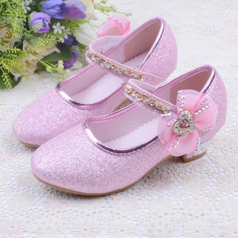 Spring/Autumn Girls Child Leather Princess Shoes Children High Heels Single Shoes Kids Party Sandals Baby Girls Shoes