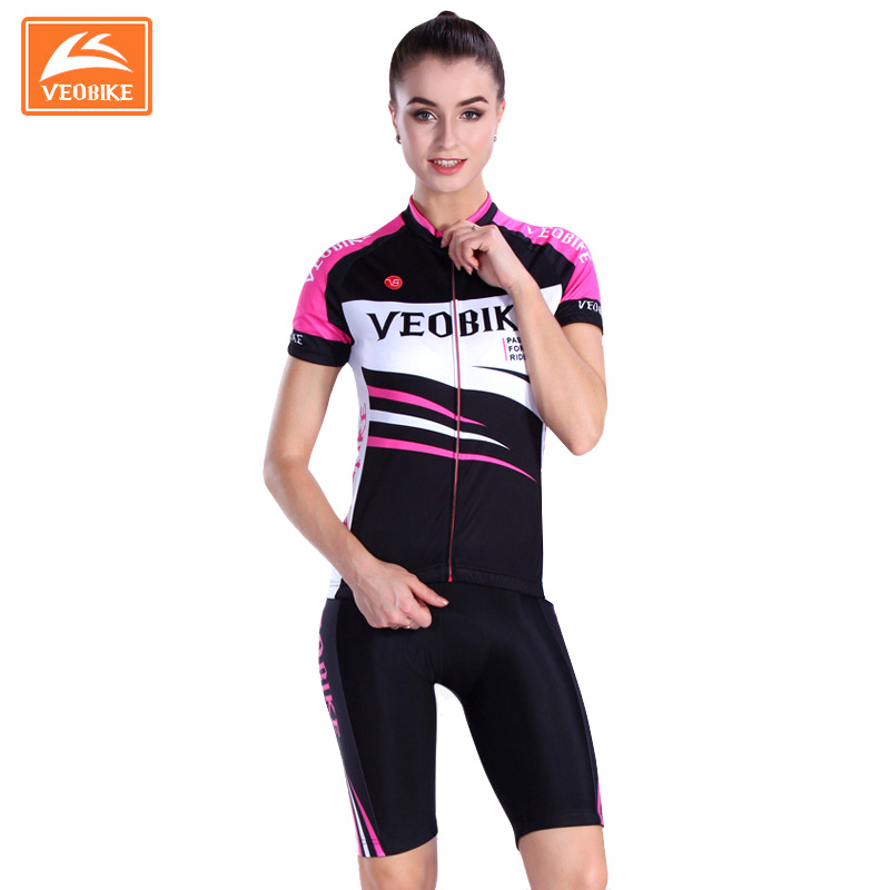Veobike Breathable Woman Cycling Jersey Set Quick-Dry Short Sleeve Cycling Sets MTB Bike Bicycle Sportswear ropa ciclismo xintown 2017 pro men cycling jersey set breathable mtb clothes quick dry bicycle summer sportswear bike jerseys ropa ciclismo