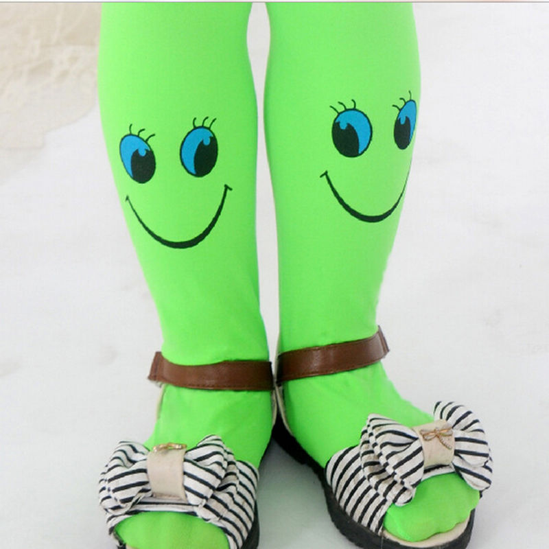 Tights Stockings Summer Cute Smile Face Baby Girls Stocking Dancing Children Dress Tights Trousers Pantyhose 9