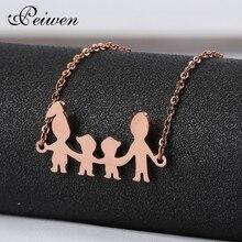 цены Fashion Figure Family Bracelets With Mom Dad Girl Boy For Women Men Stainless Steel Silver Gold Rose Charm Custom Bracelet Gift