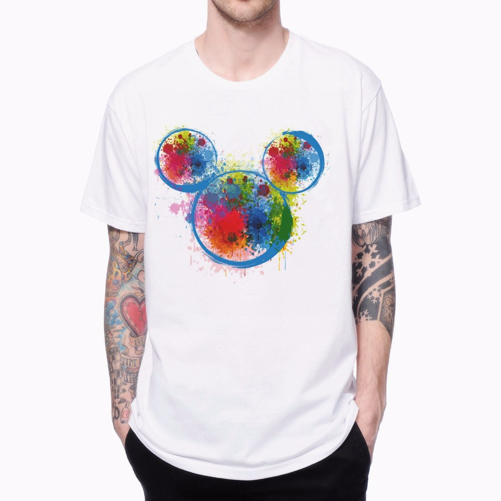 Shirt design ink - Shirt Design Ink Drop Ink Mickey T Shirts 1704116 Cool Hipster Male Europe Plus Size