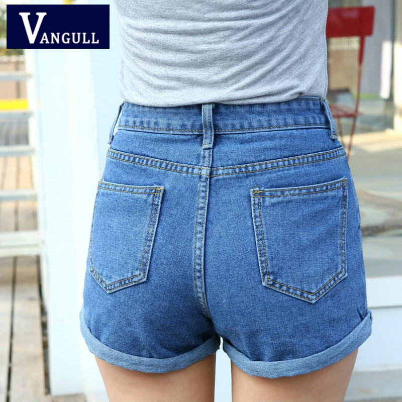 New Fashion women's jeans Summer High Waist Stretch Denim   Shorts   Slim Korean Casual women Jeans   Shorts   Hot Plus Size
