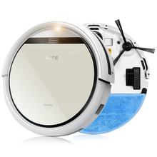 ILIFE Mop Robot Vacuum Cleaner for Home iLife V5 CW310 Golden lid HEPA Filter Sensor Remote