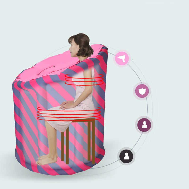 Nadmuchiwane przenośna SAUNA parowa dom Sauna SPA łaźnia parowa schudnąć terapii Detox pary krotnie na mokro do kabiny SAUNA zrównoważyć swoje życie,